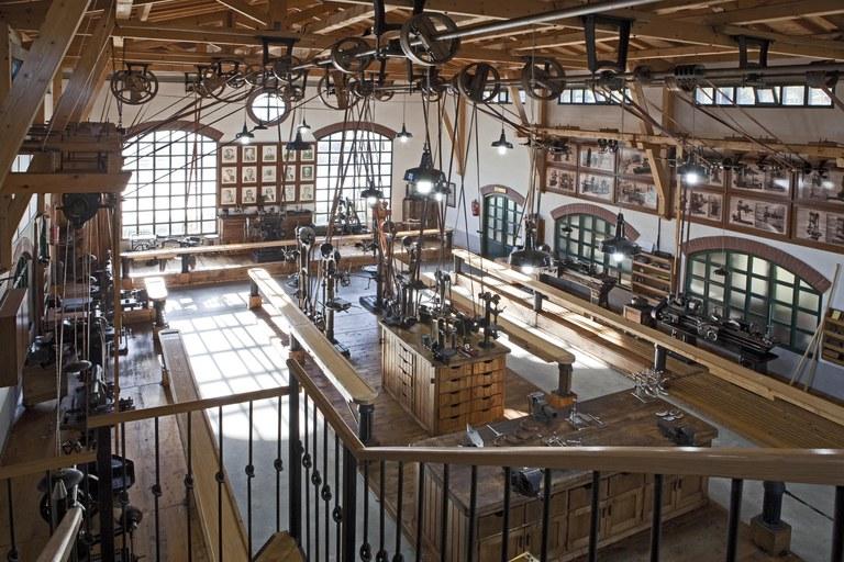 Interior del Museo de la Máquina-Herramienta de Elgoibar